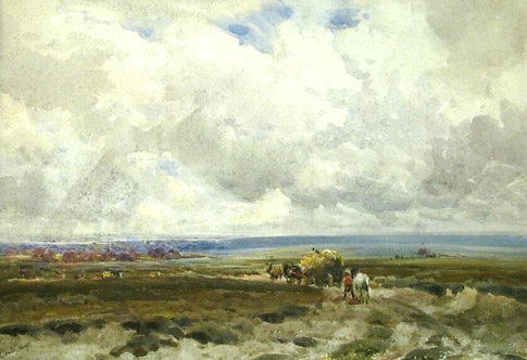 'Near Barnet, London', Claude Hayes (1852-1922) RI, ROI, RWS. Irish.