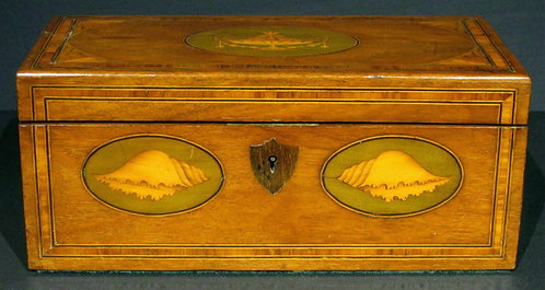 A Fine George III Inlaid Mahogany Tea Caddy Converted to a Letter Box
