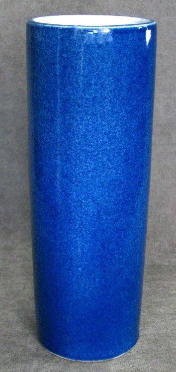 Chinese Monochrome Powder Blue Porcelain Hat-Stand Vase, Republic Period