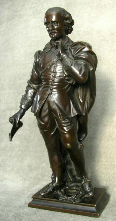 A 19th Century Full Length Bronze Figure of William Shakespeare