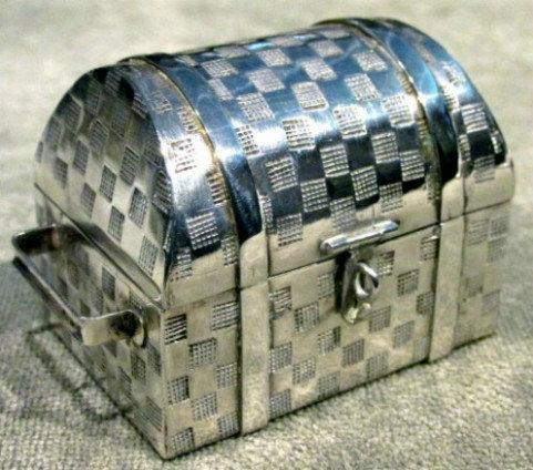 A 20th Century Sterling Silver Trinket Box, Peru
