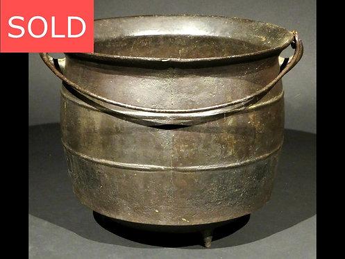 An Early 19th Century Cast Iron Cauldron, Circa 1800