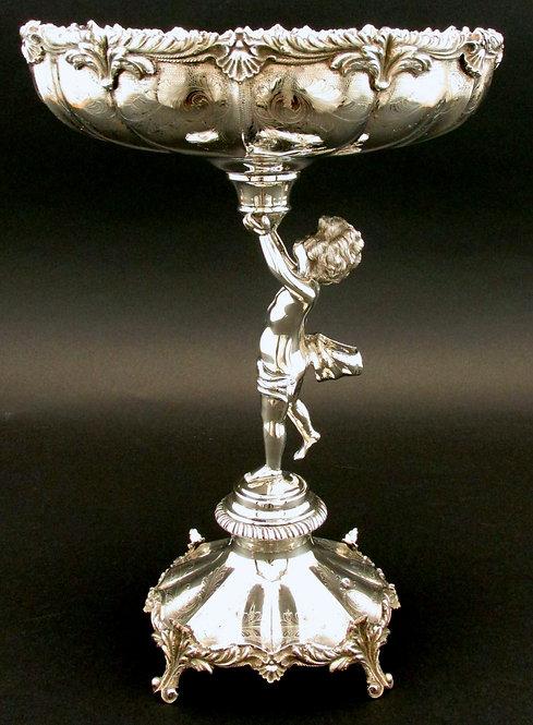 A Very Fine & Heavy Portuguese Silver (.833 fine) Rococo Revival Centrepiece