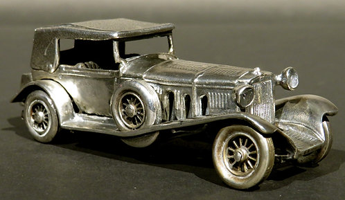 A Vintage Scale Model of the 1928 Mercedes Benz SS in German Silver, Circa 1950