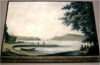 View of Constantinople. 18th Century Watercolour.
