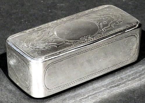 A Very Good 19th Century Austrian Silver Snuff Box, Vienna 1867