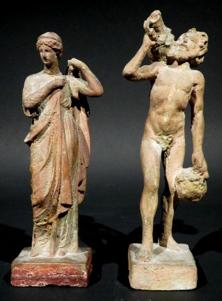 Two Early 20th Century Hellenistic Style Tanagra Figures, Continental