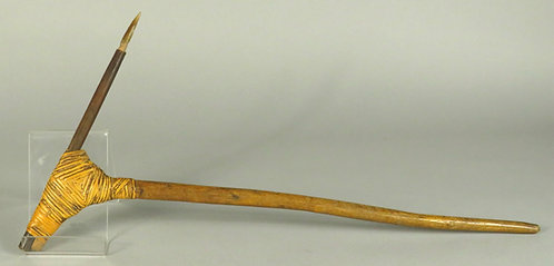 An Early 20th Century Papua New Guinea Fighting Pick, Lowland Rainforest