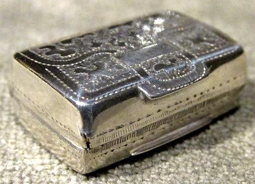 A George IV Sterling Silver Vinaigrette, Birmingham 1826