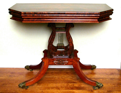 A Very Fine and Important 19th Century Fold Over Tea Table in Cuban Mahogany
