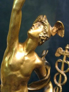 A Fine 19th Century Gilt Bronze Figure of Mercury, Continental Circa 1870
