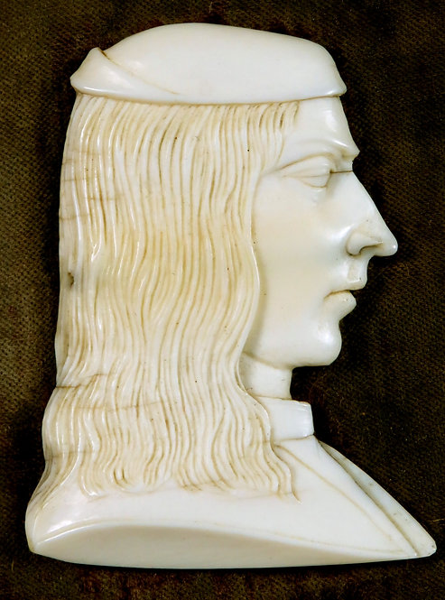 An 18th Century Grand Tour Ivory Profile Portrait Bust, Italy Circa 1780