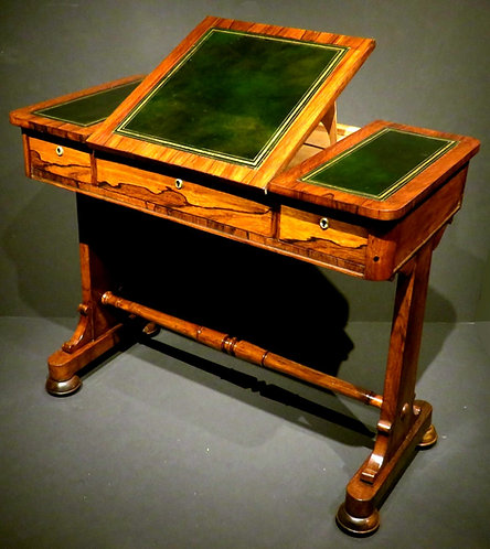 A Fine Regency Period Writing Table / Sofa Table in Rosewood, English Circa 1825