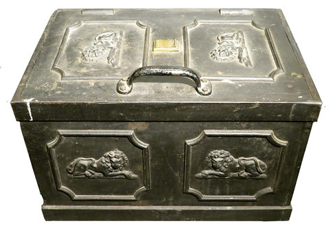 A George II Cast Iron Strong Box Attributed to Humphrey Gainsborough (1718-1776)