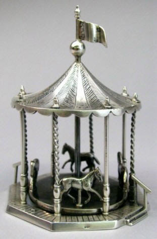 A Charming Group of Early 20th Century Dutch Silver (.835 fine) Miniatures
