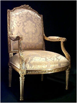 Suite of 4 Louis XVI Style Giltwood Fauteuils. France. Circa 1870