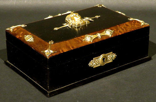 A Highly Decorative Egyptian Revival Jewellery Box / Trinket Box, Continental