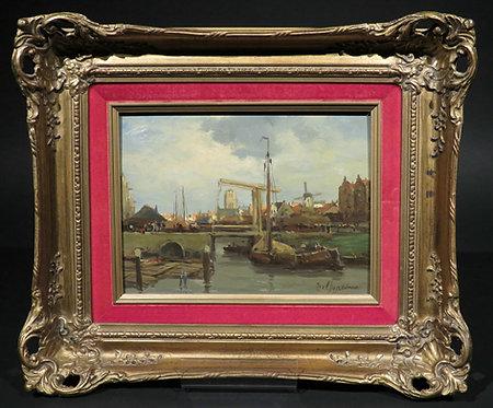 Rotterdam Harbour View,Gerard Johannes Delfgaauw (1882-1947) Dutch