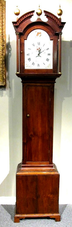 A Very Good Early 19th Century 'Scumbled' Pine Longcase Clock-Case, England