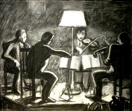 'The Quartet',JOHN GOODWIN LYMAN (1886-1967) CAS CGP EGP FRSA