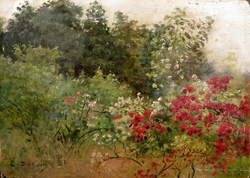 'Spring Landscape', Edmond Louis Dupain (1847-1933) French