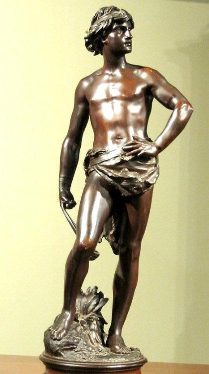 A Fine 19th Century Bronze by Adrien-Etienne Gaudez, (1842-1902)