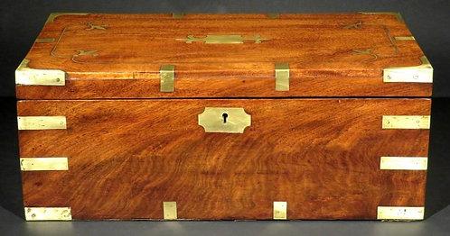 A Very Good Georgian Brass-Bound Mahogany Writing Box, England Circa 1820