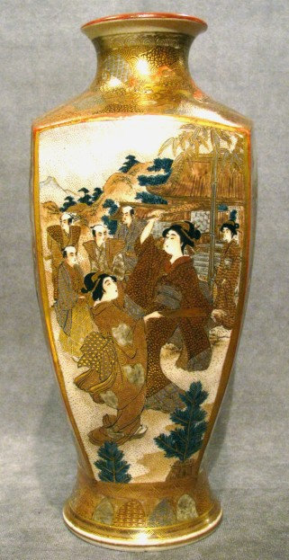 An Exceptionally Fine 19th Century Japanese Satsuma Vase, Meiji Period