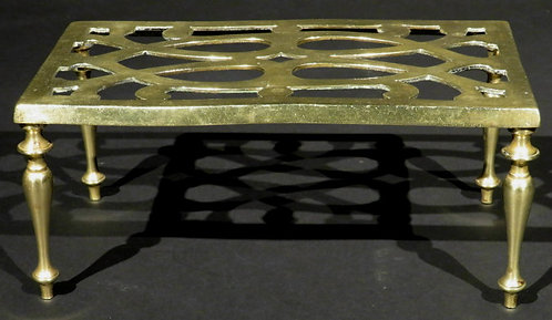 An Early 20th Century Table Shaped Brass Trivet, England Circa 1900