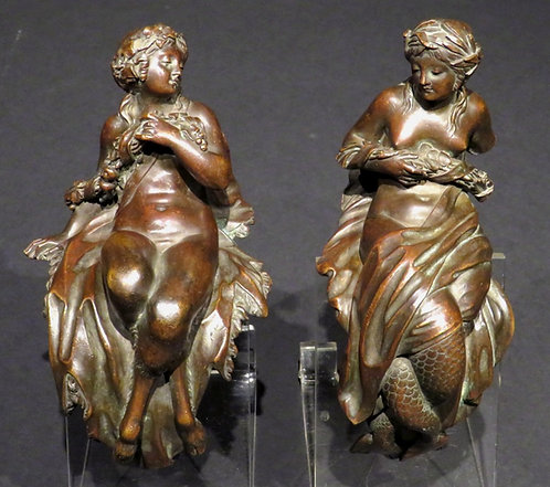 Extremely Fine Pair of Early 19th Century Neoclassical Bronze Furniture Mounts