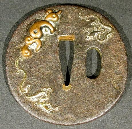 A Late 19th Century Japanese Iron & Mixed Metal Tsuba, Edo or Meiji Period