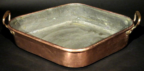A 19th Century Copper Turbot Poaching Pan 'Turbotiere', French Circa 1890