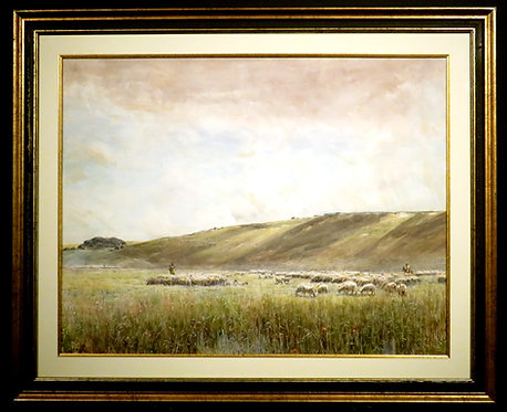 Claude Hayes, 'Near The Berkshire Downs, Woburn Hill, Addlestone, Surrey'