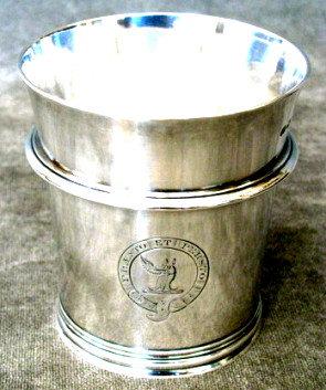 A Fine & Heavy 19th Century Sterling Silver Beaker, Hallmarked London 1875