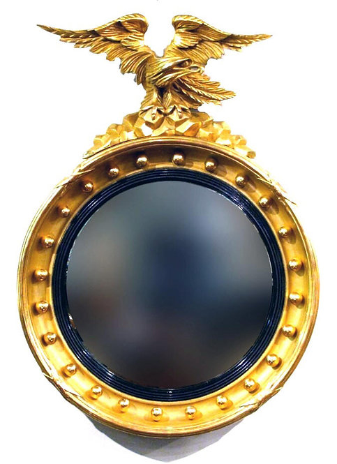 A Fine 19th Century Giltwood Bull's Eye or Butler's Mirror