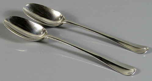 A Rare Pair of George I Britannia Silver (.958 fine) Tablespoons