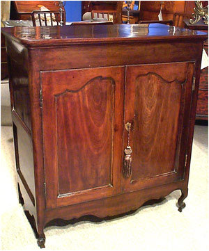 A Rare Louis XV French Colonial Side Cabinet in Mahogany