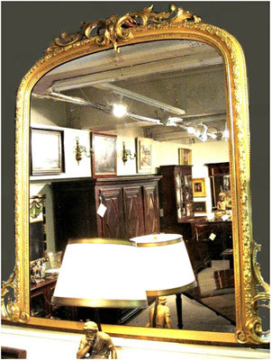 An Impressive and Finely Gilded 19th Century Mantle Mirror