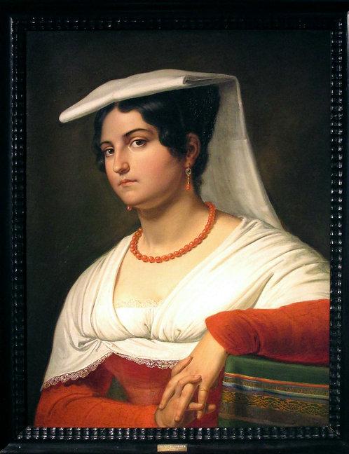 Portrait of an Italian Woman, Probably Vittoria Caldoni