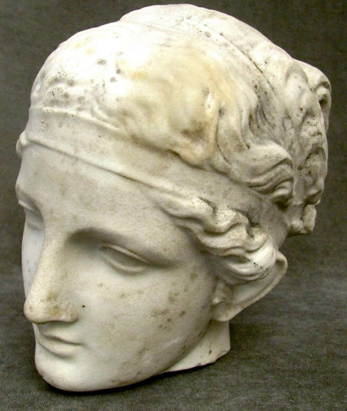 A 19th Century Neoclassical Marble Statuary Fragment of a Goddess