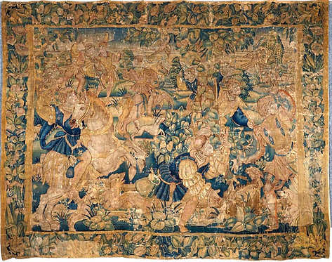 A 16th Century Flemish Hunt Tapestry, Circa 1570