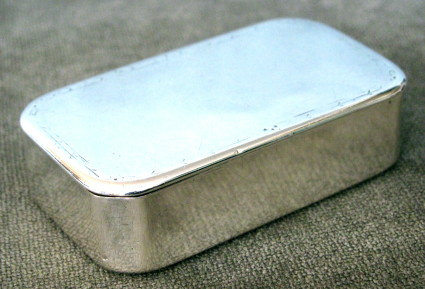 An Early 19th Century Swedish Silver (.830 fine) Snuff Box