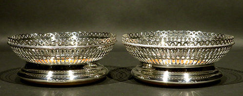A Very Good Pair of 19th Century Silver Plated Bottle Coasters by Elkington & Co