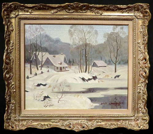 Winter Landscape,Thomas Harold Beament (1898-1984) Canadian RCA, PRCA