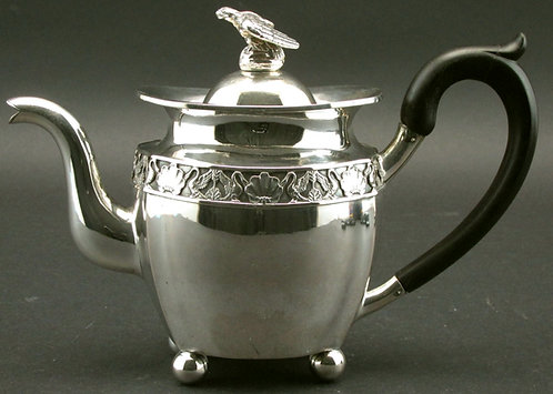 A Fine Early 19th Century Continental Silver Teapot, Possibly Russian Circa 1825