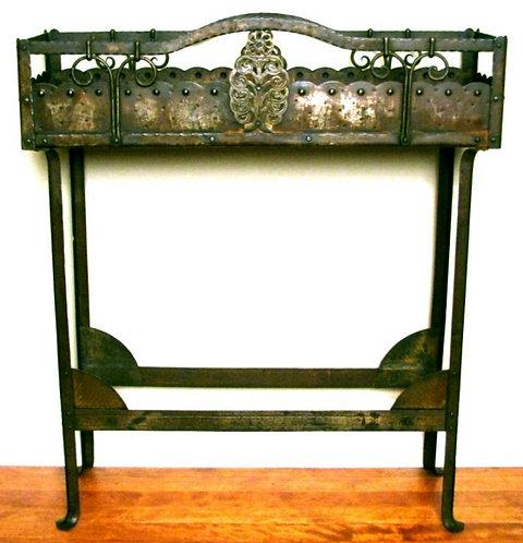 A Highly Decorative Arts & Crafts Wrought Iron Jardinière, England Circa 1900