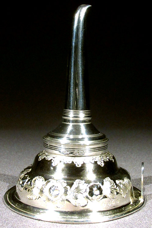 A Fine George III Sterling Silver Wine Funnel, Hallmarked London 1812