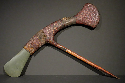 A Rare Papua New Guinea Ceremonial Axe, Southern Highlands, Mount Hagen Region
