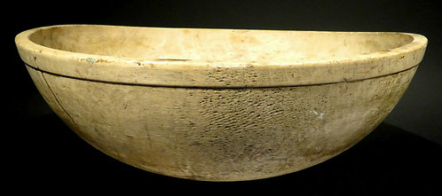 An Exceptionally Large 19th Century Basswood Dough Bowl, Canadian Circa 1870