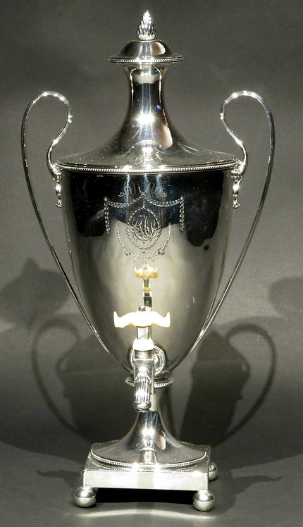 A Fine 18th Century Neoclassical Sterling Silver Coffee Urn, London 1783